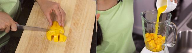 Thạch xoài hai tầng làm cực dễ, ăn ngon khỏi bàn - Ảnh 1