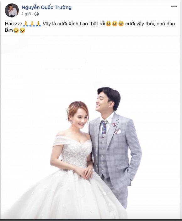 Quốc Trường đăng ảnh cưới Bảo Thanh, fan chuyển khoản ngay tiền mừng - Ảnh 1