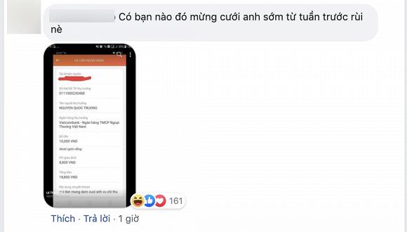 Quốc Trường đăng ảnh cưới Bảo Thanh, fan chuyển khoản ngay tiền mừng - Ảnh 3