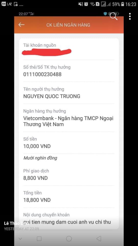 Quốc Trường đăng ảnh cưới Bảo Thanh, fan chuyển khoản ngay tiền mừng - Ảnh 4