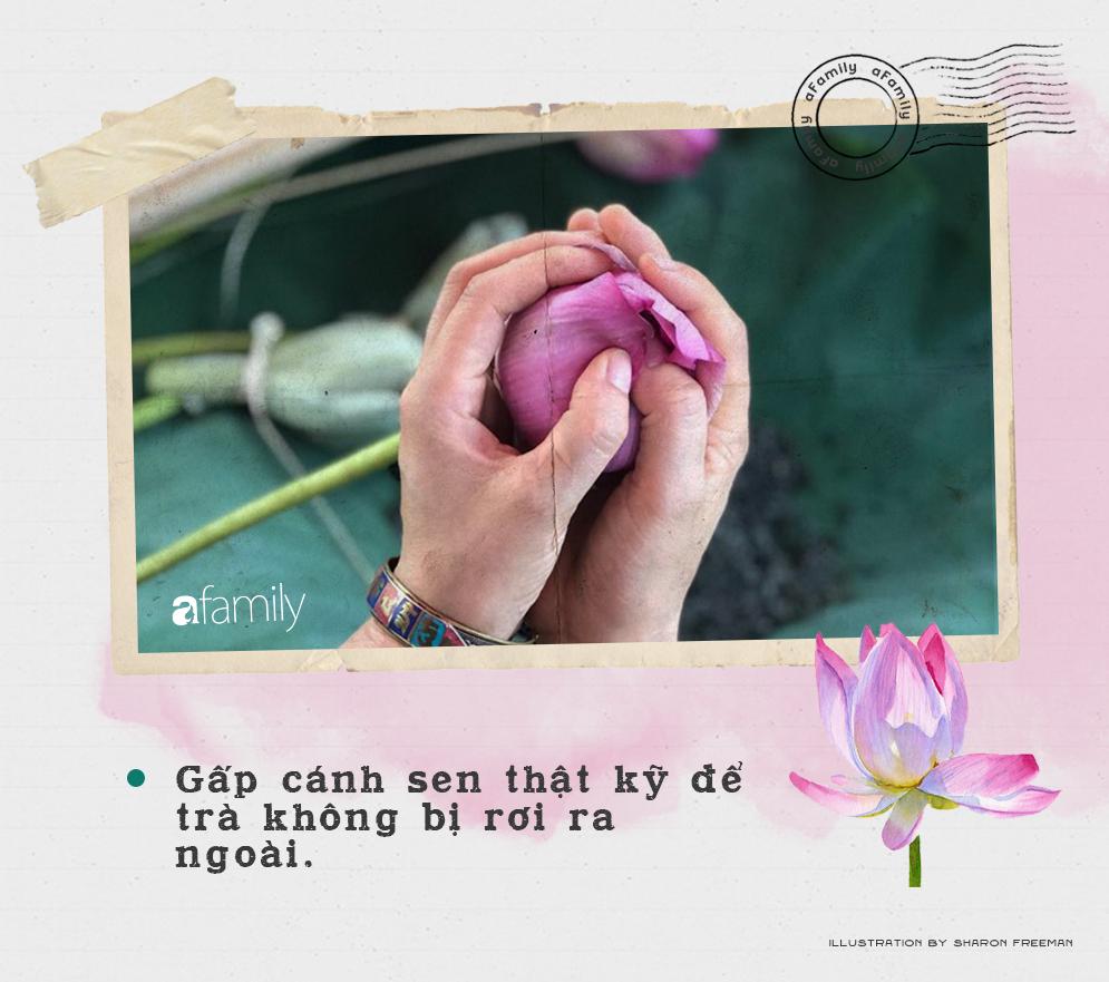 Cô gái Hà Nội hướng dẫn cách ướp trà sen thơm ngát chuẩn ngon đến người lười cũng làm theo được - Ảnh 6