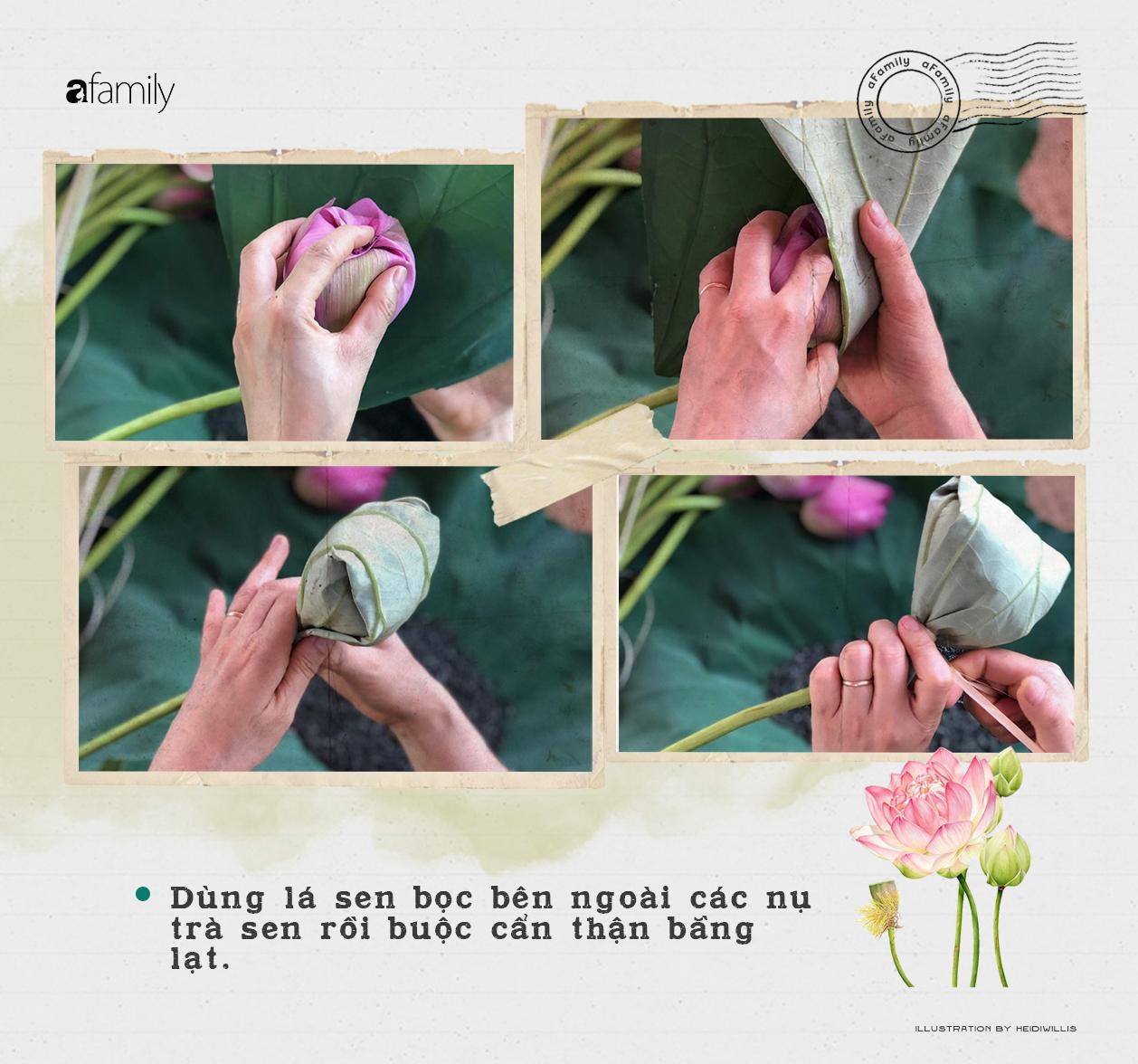 Cô gái Hà Nội hướng dẫn cách ướp trà sen thơm ngát chuẩn ngon đến người lười cũng làm theo được - Ảnh 7