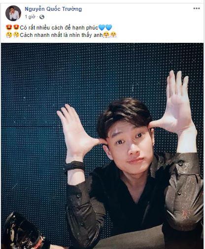 """Quốc Trường nhiệt tình """"thả thính"""", Hoa hậu Trần Tiểu Vy ra sức xin xỏ - Ảnh 1"""