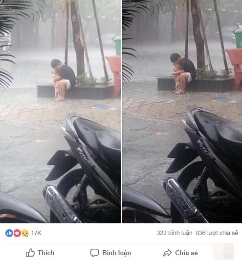Bức ảnh cậu bé gồng mình che mưa cho chú chó nhỏ nhận 'bão' like trên mạng xã hội - Ảnh 3