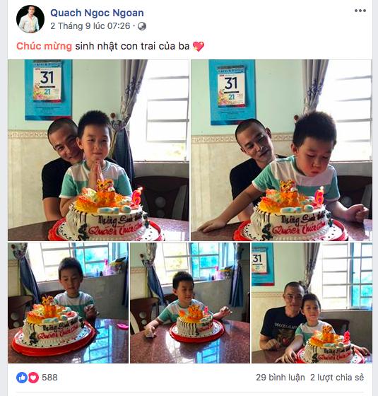 Bị tố 'chối vợ bỏ con', Quách Ngọc Ngoan bất ngờ khoe ảnh mừng sinh nhật con trai Lê Phương - Ảnh 1
