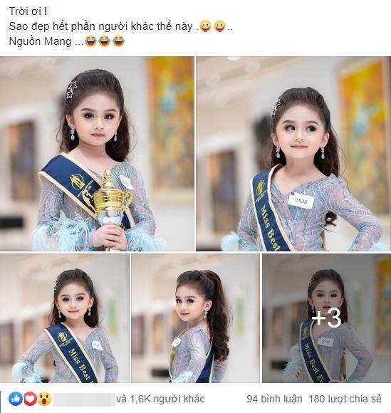 Bé gái xinh như Hoa hậu làm chao đảo cư dân mạng, khuôn mặt khi không trang điểm lại càng bất ngờ - Ảnh 6