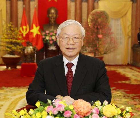 Tổng Bí thư, Chủ tịch nước Nguyễn Phú Trọng chúc Tết - Ảnh 1