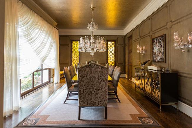 Tuyệt chiêu lựa chọn rèm cửa để nâng tầm vẻ đẹp của căn phòng ăn gia đình để đón xuân mới - Ảnh 1