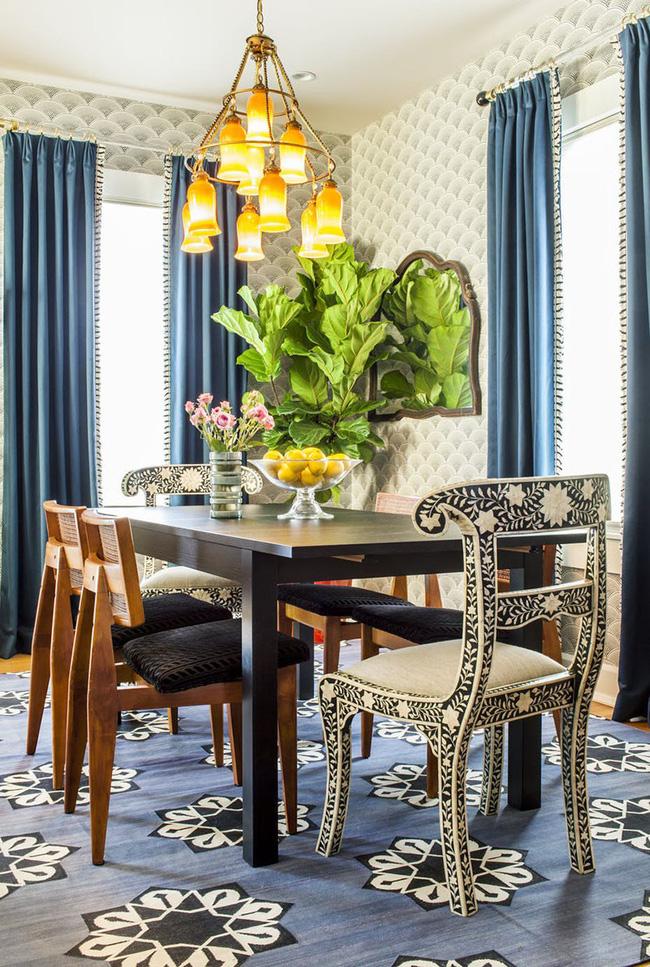 Tuyệt chiêu lựa chọn rèm cửa để nâng tầm vẻ đẹp của căn phòng ăn gia đình để đón xuân mới - Ảnh 16