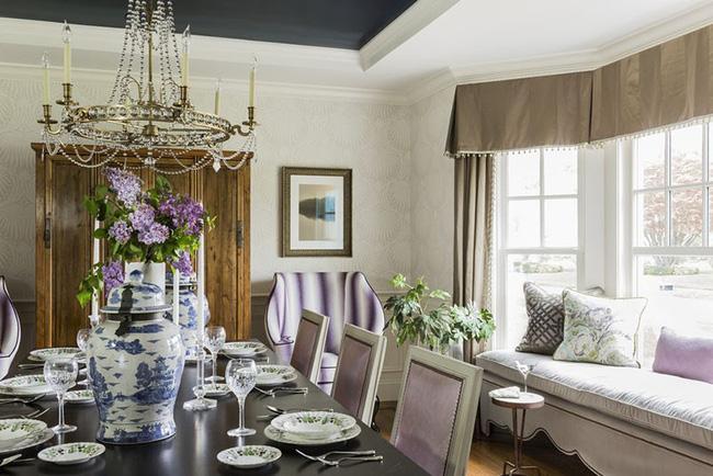 Tuyệt chiêu lựa chọn rèm cửa để nâng tầm vẻ đẹp của căn phòng ăn gia đình để đón xuân mới - Ảnh 19