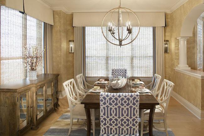 Tuyệt chiêu lựa chọn rèm cửa để nâng tầm vẻ đẹp của căn phòng ăn gia đình để đón xuân mới - Ảnh 6