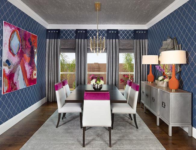 Tuyệt chiêu lựa chọn rèm cửa để nâng tầm vẻ đẹp của căn phòng ăn gia đình để đón xuân mới - Ảnh 7