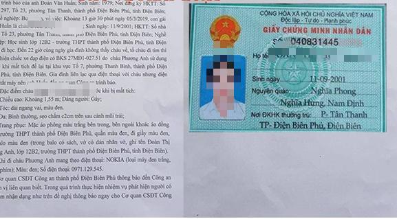 Vụ nữ sinh Điện Biên mất tích: Cắt tóc xong sợ bố mẹ mắng nên bỏ đi - Ảnh 1
