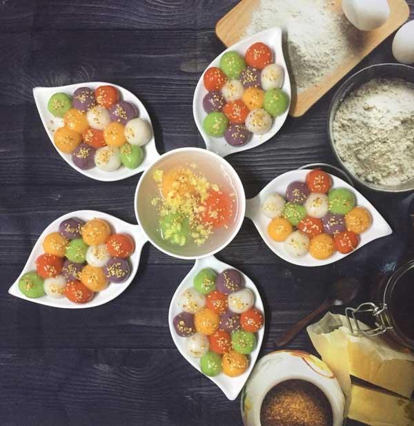 Cách làm bánh trôi ngũ sắc từ bột khô và bột ướt - Ảnh 6
