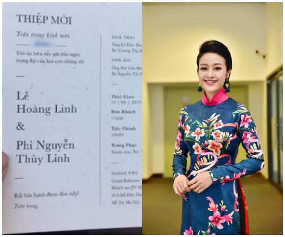 Bất ngờ trước thiệp cưới hé lộ ngày kết hôn của MC Phí Linh - Ảnh 2