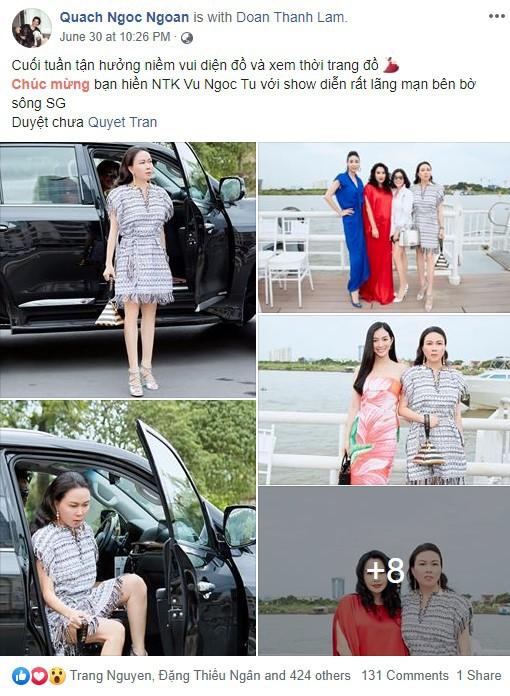 Nghi vấn thú vị, Phượng Chanel dùng tài khoản facebook của Quách Ngọc Ngoan để 'tự khen' mình thời trang - Ảnh 5