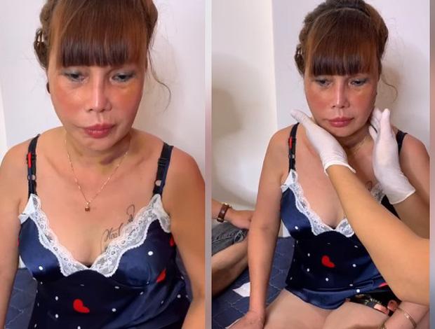 Cô dâu 63 tuổi Cao Bằng mặt băng kín mít, miệng méo xệch ngồi cạnh chồng trẻ khiến dân mạng vừa giận vừa thương - Ảnh 5