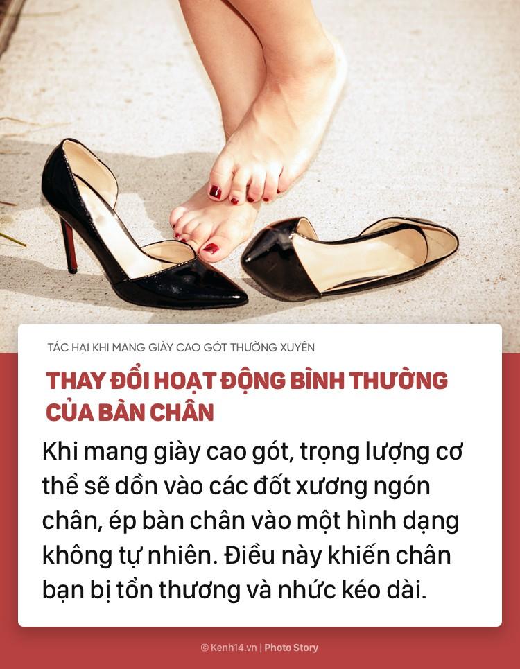Nếu bạn thường xuyên mang giày cao gót, hãy chú ý những tác hại này - Ảnh 1