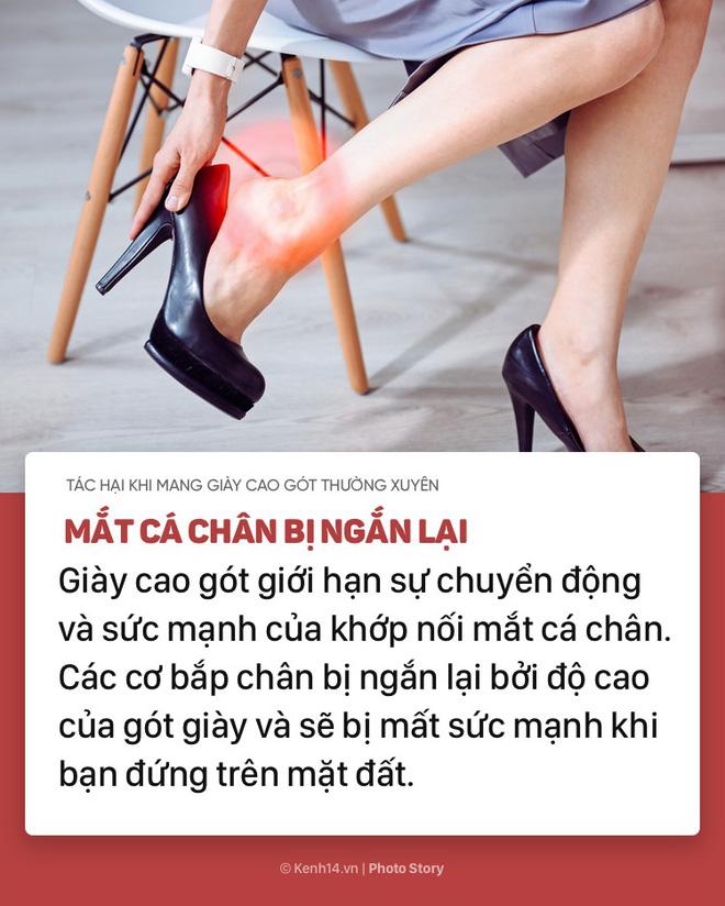 Nếu bạn thường xuyên mang giày cao gót, hãy chú ý những tác hại này - Ảnh 7