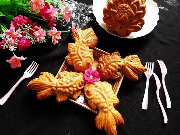Tưởng không dễ mà dễ không tưởng: Làm bánh Trung Thu con cá đẹp lung linh! - Ảnh 7