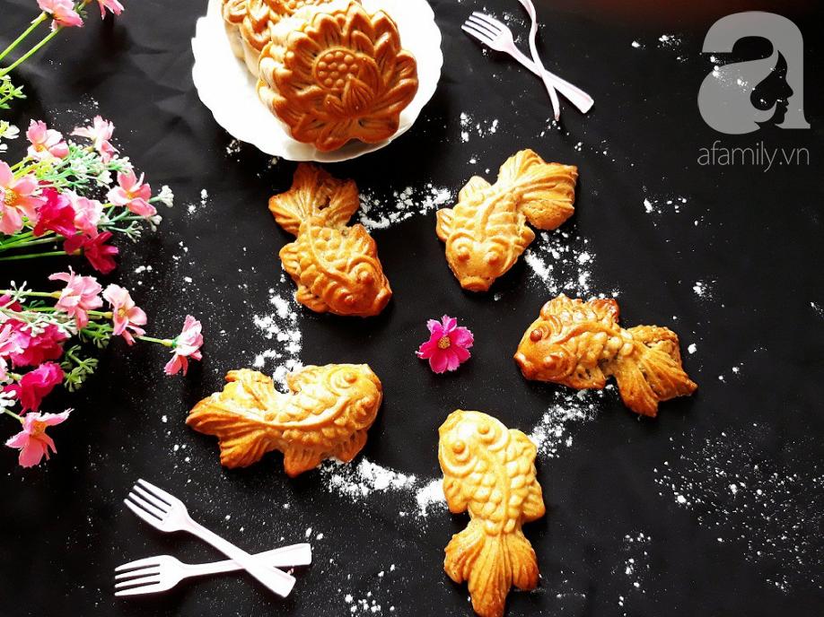 Tưởng không dễ mà dễ không tưởng: Làm bánh Trung Thu con cá đẹp lung linh! - Ảnh 8