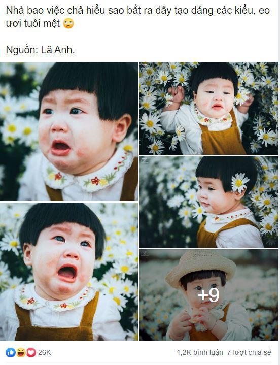 Nhiếp ảnh gia tiết lộ hậu trường đầy bất ngờ phía sau bức ảnh bé gái 'thèm uống sữa mà mẹ cứ bắt đi chụp cúc họa mi' - Ảnh 1