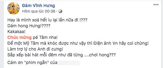 Đàm Vĩnh Hưng 'xin' Mỹ Tâm: 'Làm trợ lý cho anh đi cưng!' - Ảnh 1