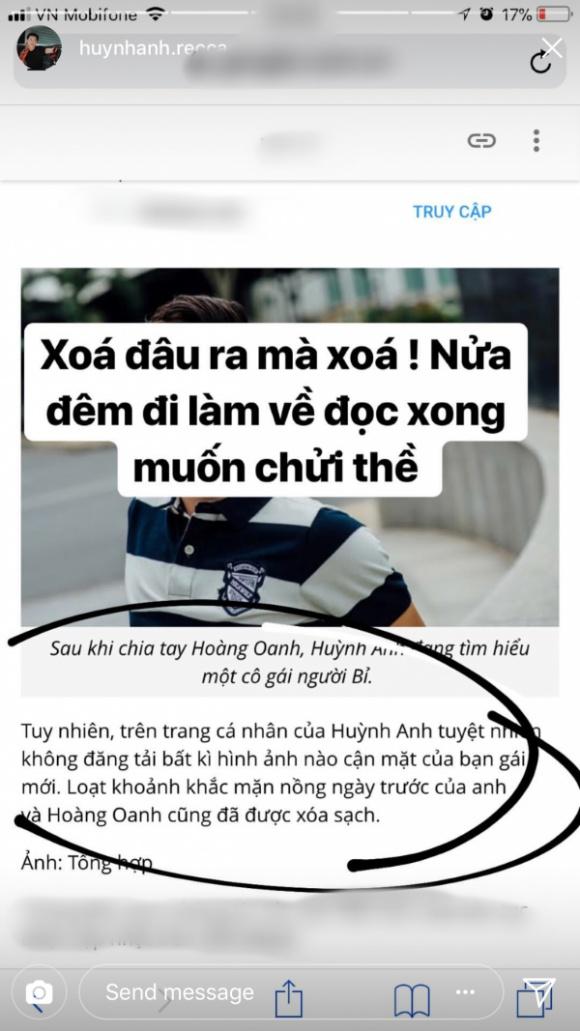 Sau 1 năm chia tay Hoàng Oanh, Huỳnh Anh bức xúc: 'Rõ ràng bị bỏ mà lại thành kẻ phụ tình' - Ảnh 2