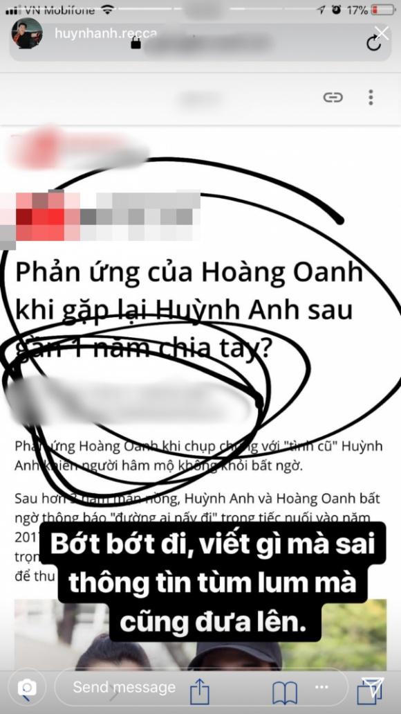 Sau 1 năm chia tay Hoàng Oanh, Huỳnh Anh bức xúc: 'Rõ ràng bị bỏ mà lại thành kẻ phụ tình' - Ảnh 1