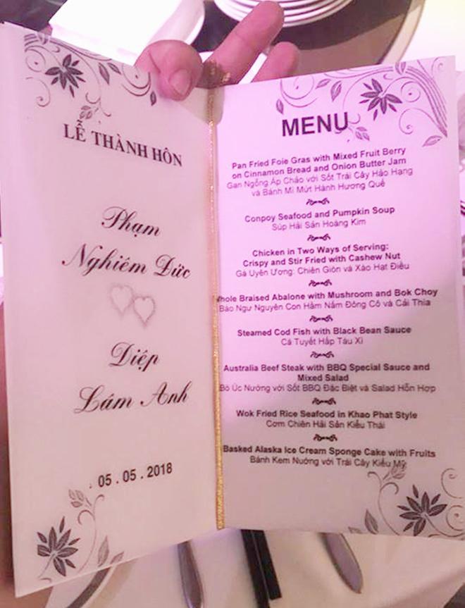 Ai cũng choáng khi ngó thực đơn tiệc cưới hoành tráng của Diệp Lâm Anh với chồng thiếu gia - Ảnh 2