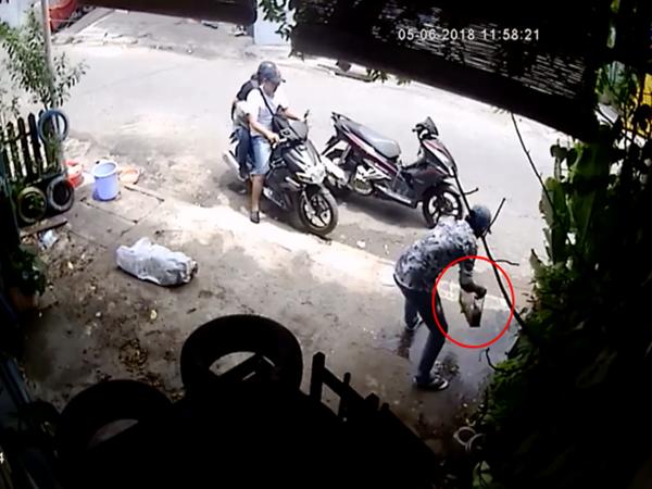 Tiền Giang: 3 thanh niên đi 2 xe tay ga phối hợp ăn trộm bể cá cảnh trị giá hàng chục nghìn đồng ở vỉa hè - Ảnh 1