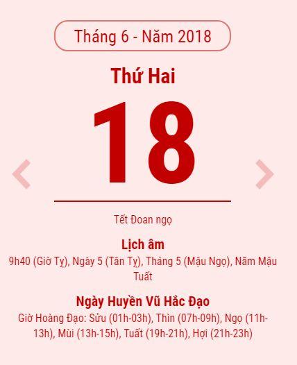 Tết Đoan Ngọ mùng 5/5 năm 2018 là ngày nào theo lịch dương? - Ảnh 1