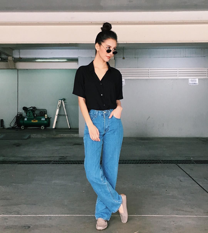 19 chiêu mix&match chất lừ với quần jeans ống rộng, cứ mặc lên là cao thêm cả chục phân chứ chẳng ít - Ảnh 18