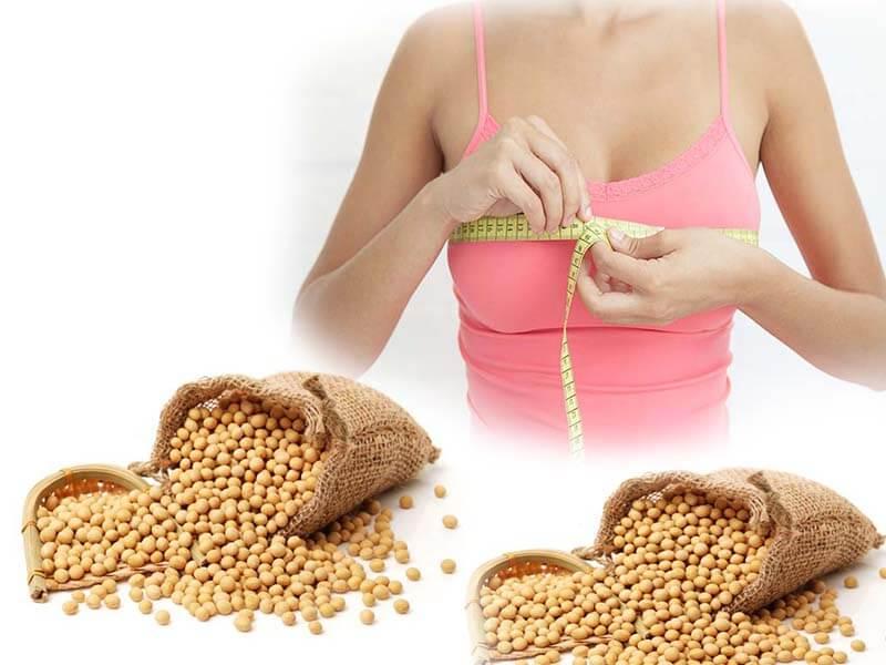 Sữa đậu nành là thực phẩm tăng vòng 1 nhanh chóng được nhiều người biết đến