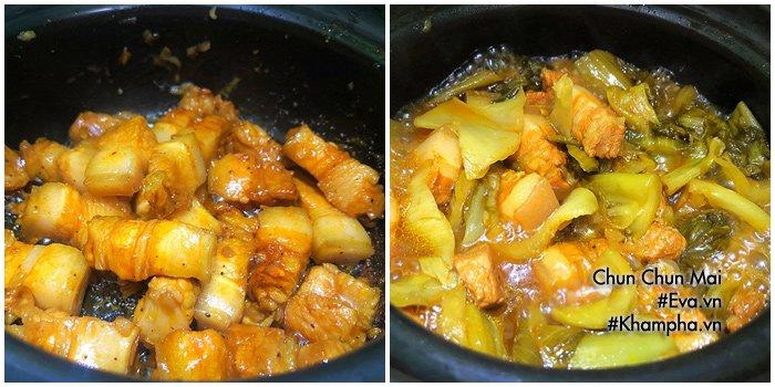 Thịt ba chỉ kho dưa cải chua khiến cơm nấu bao nhiêu cũng hết - Ảnh 4