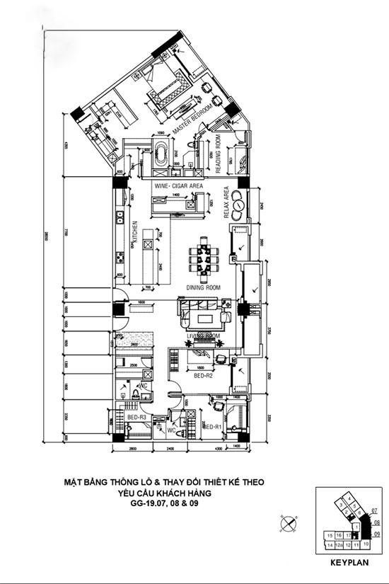Chủ nhà gộp ba căn hộ để có phòng khách hơn 100 m2 - Ảnh 10