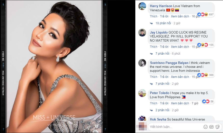 Hình ảnh H'Nen Niê xuất hiện chính thức trên fanpage Miss Universe, bất ngờ trước phản ứng của cư dân mạng quốc tế  - Ảnh 3