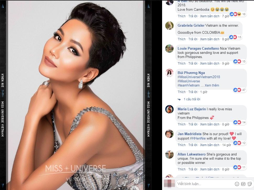 Hình ảnh H'Nen Niê xuất hiện chính thức trên fanpage Miss Universe, bất ngờ trước phản ứng của cư dân mạng quốc tế  - Ảnh 4