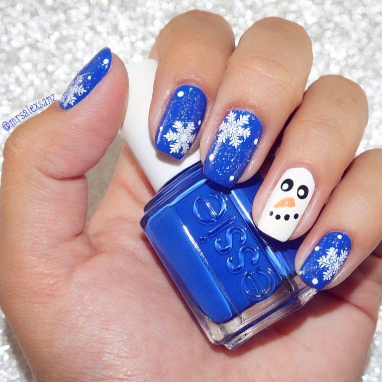 Mẫu nail Giáng sinh người tuyết dễ thương