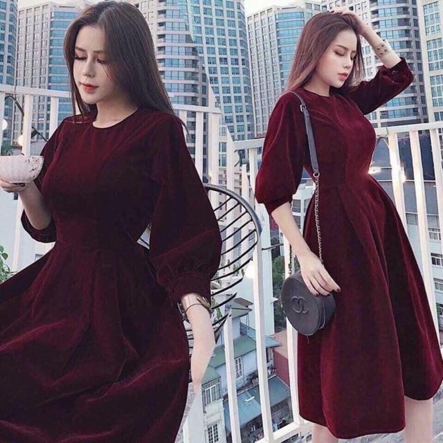 Váy chất liệu nhung đang là xu hướng mới nhất mùa xuân 2019