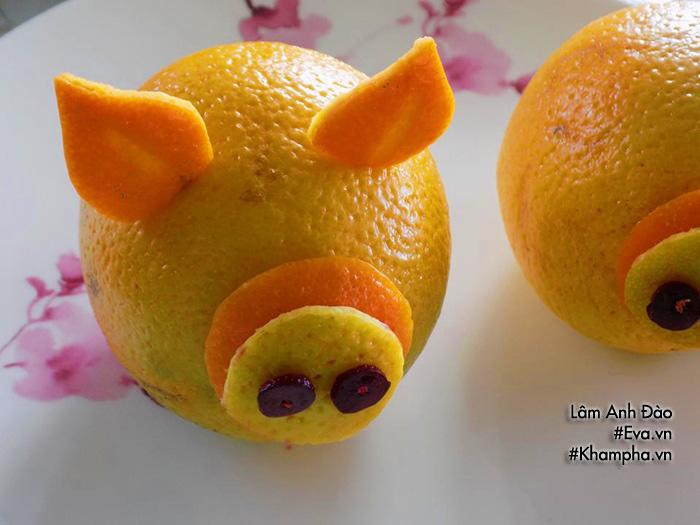 Năm Kỷ Hợi bày đĩa hoa quả hình lợn dễ thương đãi khách tới chơi nhà - Ảnh 4