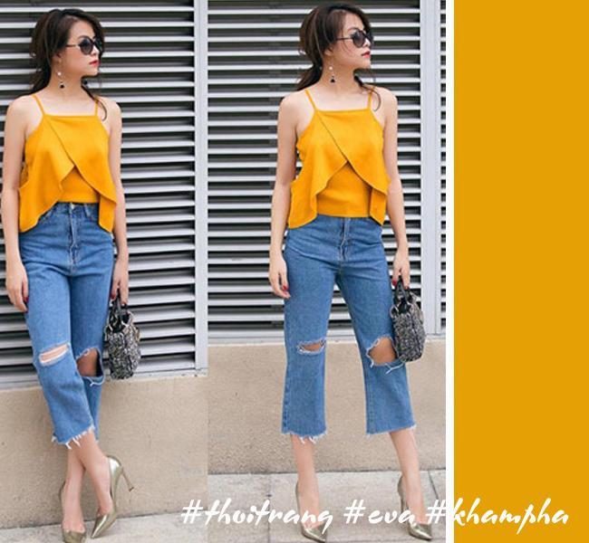 Hãy học Tóc Tiên, Hà Tăng phối màu áo hợp cạ với màu quần jeans - Ảnh 5