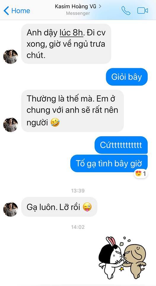 Nóng: Pha Lê công khai tin nhắn 'tố' bị Kasim Hoàng Vũ gạ tình - Ảnh 2