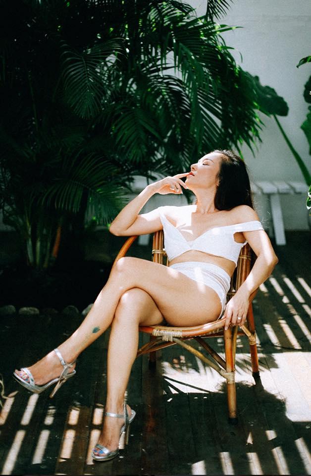 Cận cảnh bộ ảnh bikini nóng bỏng mắt của bà mẹ hai con Lý Thanh Thảo trước ngày cưới - Ảnh 3