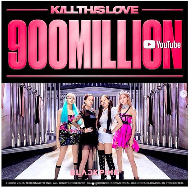 Đang stream 'How You Like That' thì được tặng poster ăn mừng 'Kill This Love' đạt 900 triệu view, chả mấy chốc BLACKPINK có MV tỷ view thứ 2! - Ảnh 1