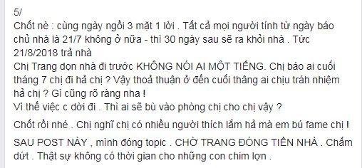 Bị tố quỵt tiền nhà, Cao Thiên Trang khẳng định đã thu nhận chứng cứ để khởi kiện - Ảnh 3