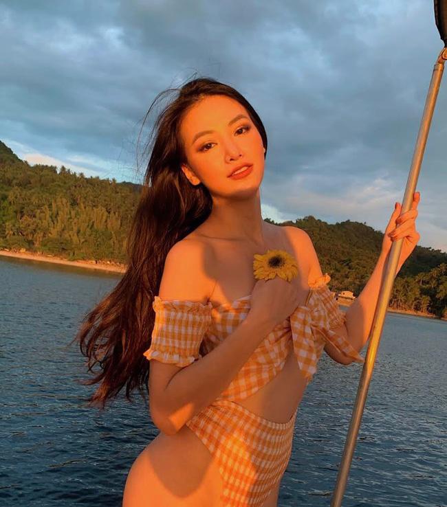 Phương Khánh diện bikini khoe đường cong nuột nà trước ngày trao lại vương miện Hoa hậu Trái đất - Ảnh 2
