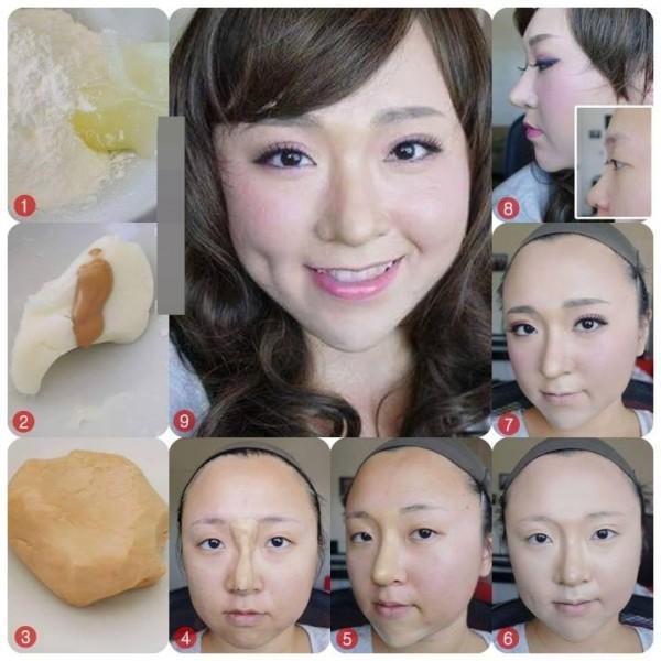 Sử dụng bột mì làm thành sống mũi giả là phương pháp mới nhất hiện nay được nhiều chị em sử dụng