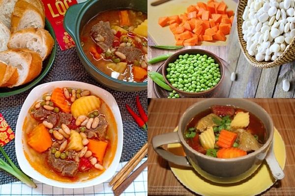 5 bước xong ngay món bò hầm đậu Hà Lan mềm thơm, bổ dưỡng - Ảnh 1