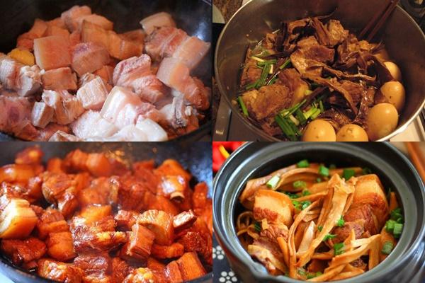 Đổi vị với món thịt kho măng khô thơm ngon đúng điệu - Ảnh 1